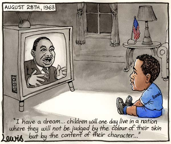Martin Luther King and Future President Obama