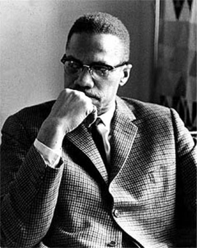 Malcolm X Contemplating